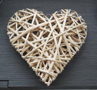 Weaving heart Stock Photos