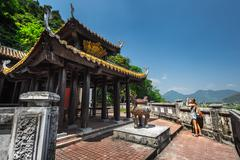 Temple at sunny day - stock photo
