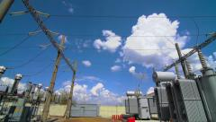 Energy transfer power substation Stock Footage