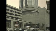 Vintage 16mm film, 1978, Atlanta Peachtree plaza Stock Footage