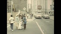 Vintage 16mm film, 1978, Atlanta Candler Building and traffic Stock Footage