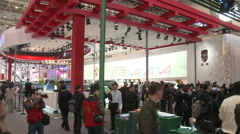 Crowds at 2010 Beijing Auto Show, China Stock Footage