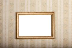 Empty photo frame on the background of old home wallpaper Stock Photos