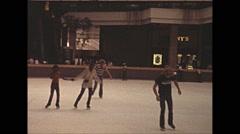 Vintage 16mm film, 1979, Atlanta ice skating #2 Stock Footage