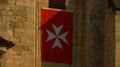 The Maltese cross sign on a church in Prague Stock Footage