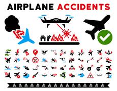 Stock Illustration of Aircraft Accidents Vector Icons
