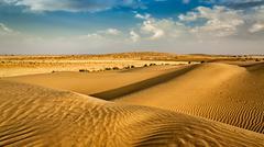 Dunes of Thar Desert, Rajasthan, India - stock photo