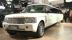 Range Rover Stretch Limo, Beijing Auto Show Stock Footage