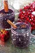 Christmas alcoholic drink - stock photo
