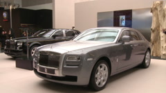 Rolls Royce cars, Beijing Auto Show, China - stock footage
