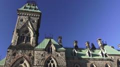 East Block on Parliament Hill, Ottawa Stock Footage