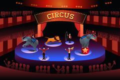 Circus performance - stock illustration