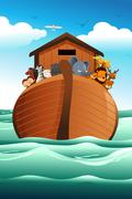 Noahs ark - stock illustration