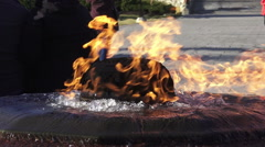 The Centennial Flame or Eternal Flame of Parliament Hill, Ottawa 2015 Stock Footage
