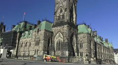 East Block on Parliament Hill, Ottawa Stock Footage