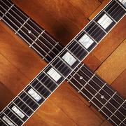 Electric And Bass Guitars Necks - stock photo