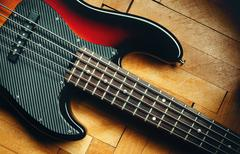 Five Strings Jazz Bass - stock photo