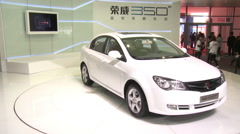 Chinese car, Roewe 350, Beijing Auto Show Stock Footage