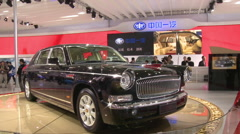 FAW Red Flag Limo, Beijing Auto Show, China Stock Footage