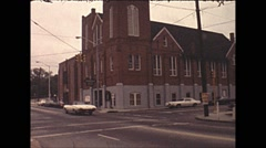 Stock Video Footage of Vintage 16mm film, 1979, Atlanta Ebenezer Baptist Church
