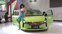 Brilliance A0 electric concept car, Beijing Stock Footage