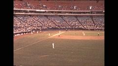 Vintage 16mm film, 1979, Atlanta baseball game #1 Stock Footage