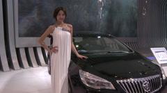 Ang Kelei Buick SUV, Auto Show, Beijing 2010 Stock Footage