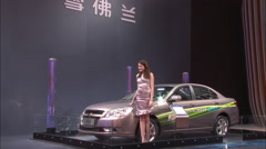 Chevrolet Epica car, Beijing Auto Show China Stock Footage