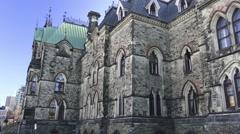 East Block on Parliament Hill, Ottawa 2015 Stock Footage