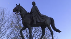 The Queen Elizabeth II equestrian statue, Parliament Hill, Ottawa Stock Footage