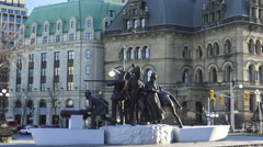 War of 1812 Monument, Ottawa, Ontario 2015 Stock Footage