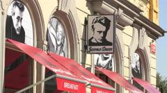 James Dean Restaurant in Prague Stock Footage