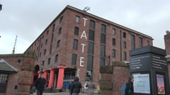 Tate gallery Liverpool Albert docks, UK Stock Footage
