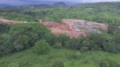 Construction site inthe jungle aerial 4k Stock Footage