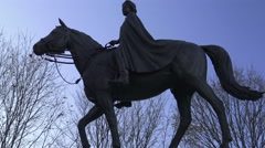 The Queen Elizabeth II equestrian statue Stock Footage