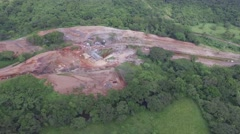 Construction site in the jungle Stock Footage