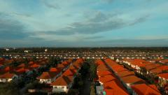 Aerial view of home village Stock Footage
