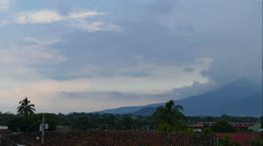 Time lapse of Volcan Mombacho in Granada - stock footage