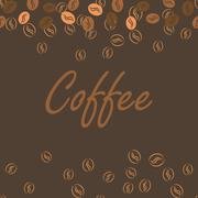 Coffee brown poster print for cards, bar drink menu - stock illustration