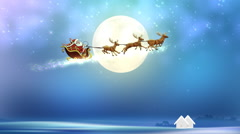 Christmas santa Background Stock Footage
