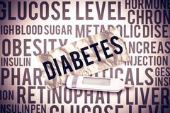 Composite image of glucose monitor Stock Illustration