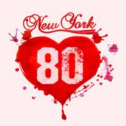 New York City Typography vector Stock Illustration