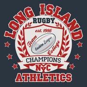 Rugby T-shirt Printing Design - stock illustration
