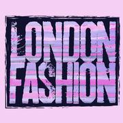 London city Typography t-shirt - stock illustration