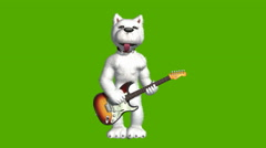 West Highland White Terrier playing guitar Stock Footage