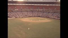 Vintage 16mm film, 1979, Atlanta baseball game atrium tipi Arkistovideo