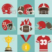 Football game icons Piirros