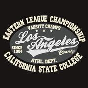 California T-shirt fashion Typography - stock illustration