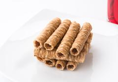 wafer roll - stock photo