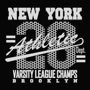 New York Sport T-shirt Design - stock illustration